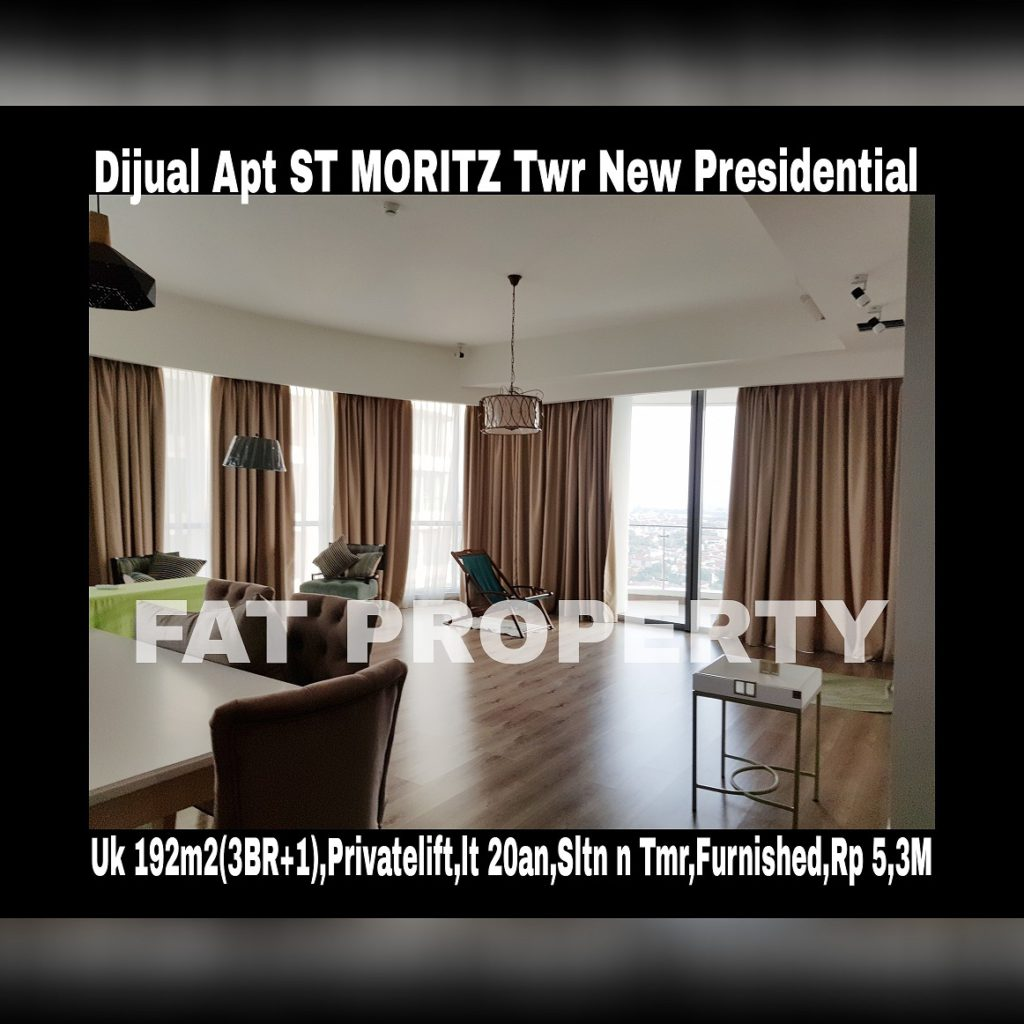Dijual Apartment ST MORITZ Tower terbaru dan terbaik,New Presidential Tower.