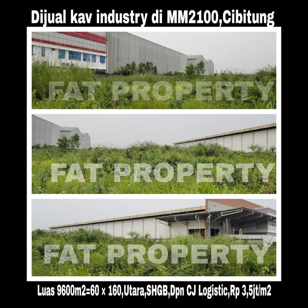 DIJUAL TANAH KAVLING INDUSTRY di Kawasan Industri MM2100 Cibitung.