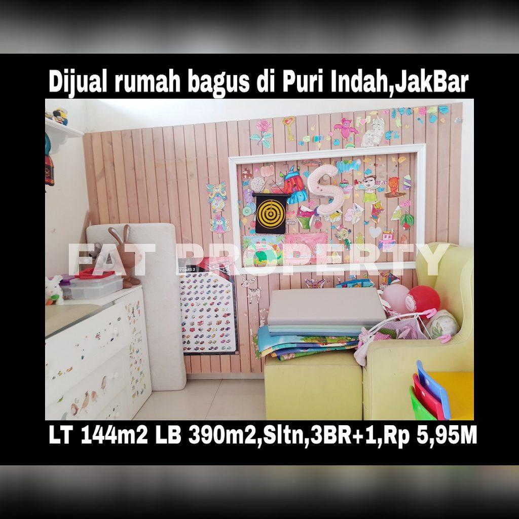 Dijual rumah bagus minimalis fully furnished mewah di Puri Indah dekat lapangan basket,Jakarta Barat.
