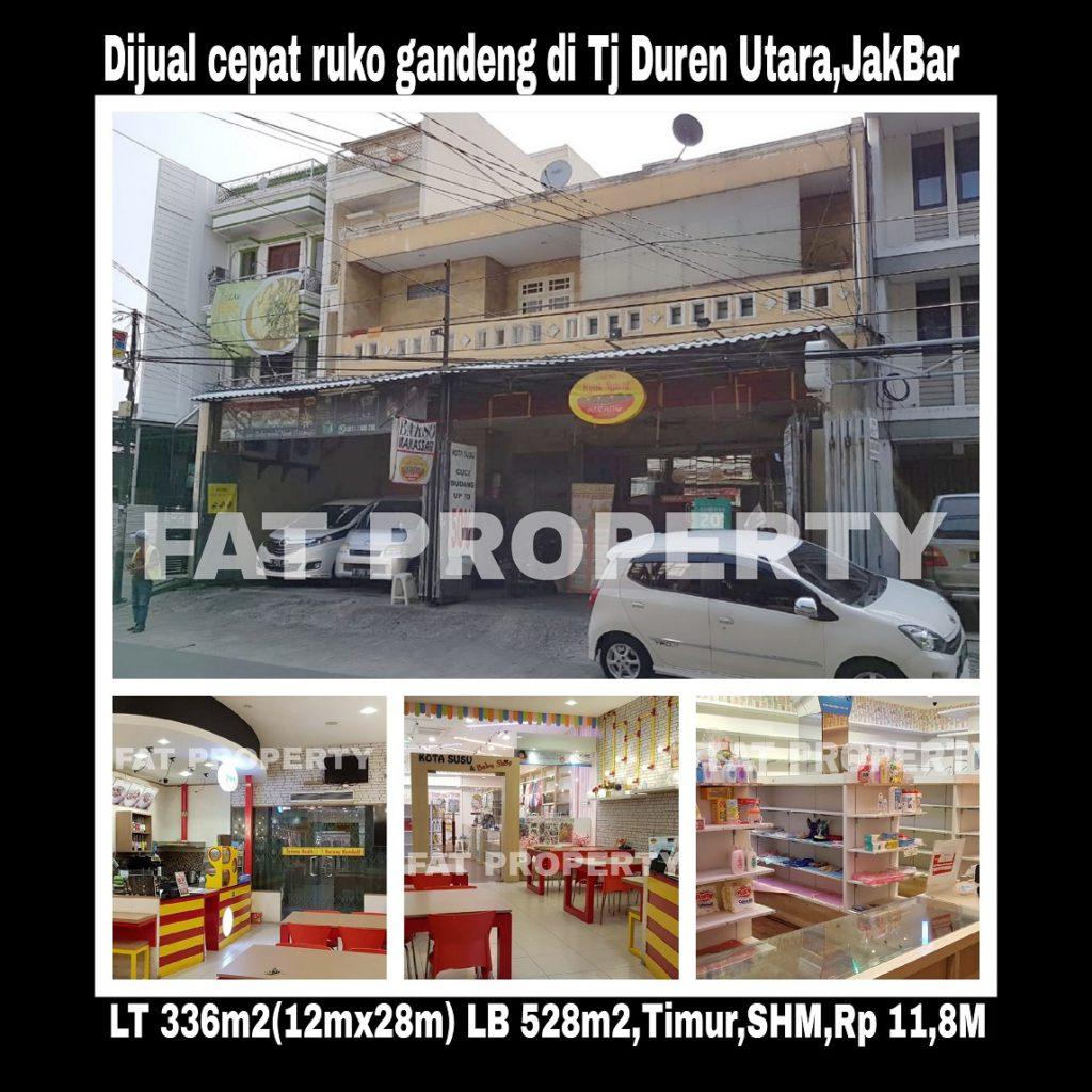 Dijual ruko gandeng 3 tingkat 2 di pinggir jln raya ramai.