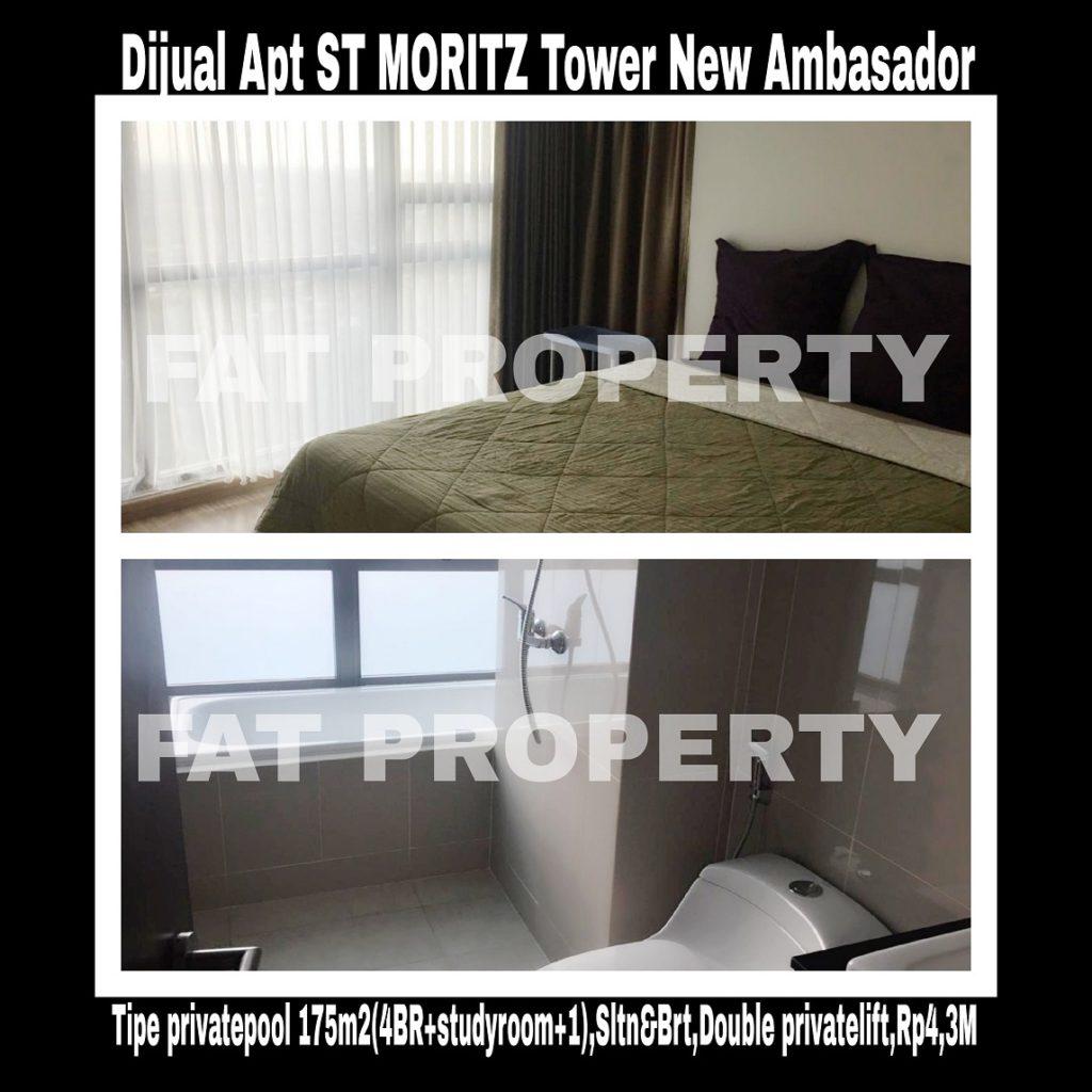 Dijual Apartment ST MORITZ Tower terbaru dan terlengkap: New Ambasador
