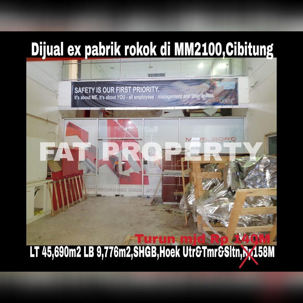 Dijual pabrik bagus di kawasan industry MM2100,Cibitung,timur dr Jakarta keluar pintu tol km 24.