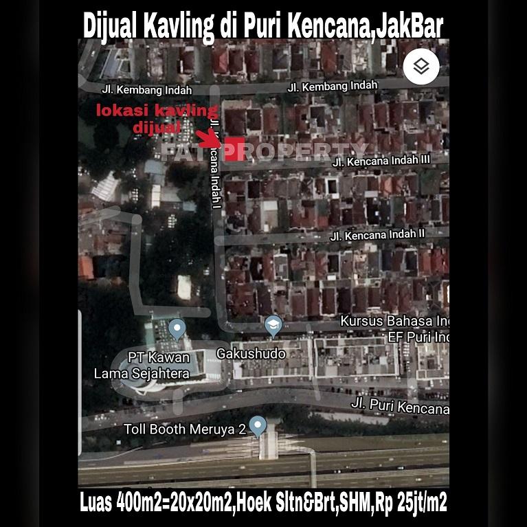 Dijual kavling perumahan di Puri Kencana,Jakarta Barat.
