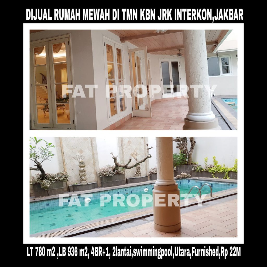 Dijual rumah super mewah di Taman Kebon Jeruk Interkon Blok U1,Jakarta Barat.