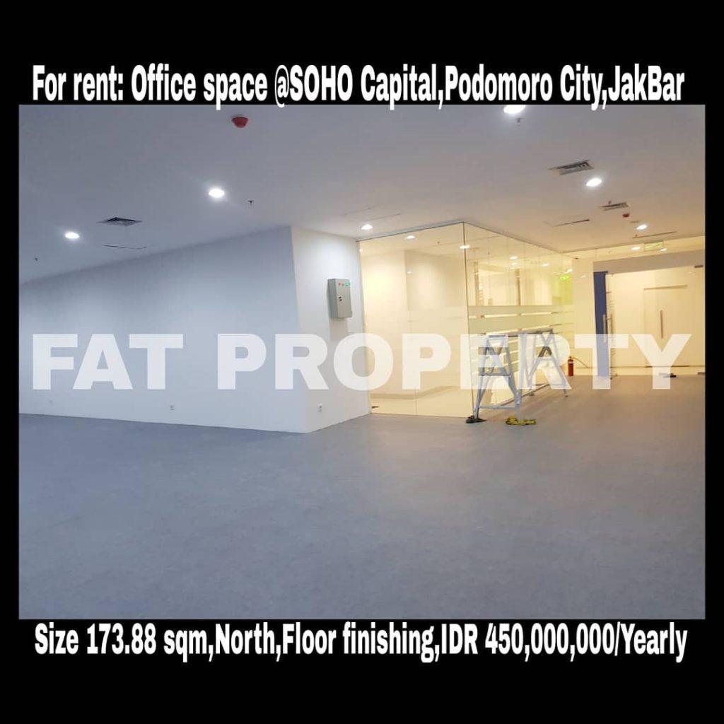 Disewakan office space di SOHO CAPITAL,CENTRAL PARK,JAKARTA BARAT.