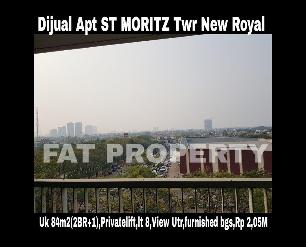 Dijual cepat Apartment ST Moritz di Jl Puri Indah Jakarta Barat.