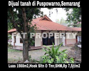 Dijual tanah ada bgnan di Jl Puspowarno IX,Semarang Barat,Semarang,Jawa Tengah.