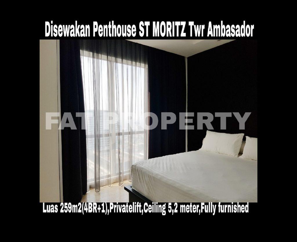 Disewakan Unit Penthouse Apartment ST Moritz di Jl Puri Indah Jakarta Barat.
