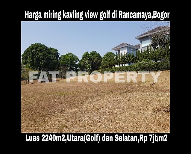 Dijual kavling view golf di Cluster Cemara,Rancamaya,Bogor.