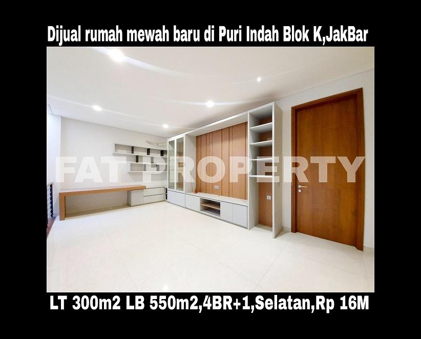 Dijual rumah mewah baru bagus di Puri Indah blok terelite:Blok K,Jakarta Barat.
