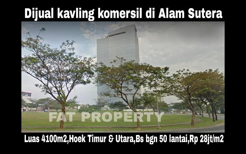 Dijual kavling komersil super strategis di Alam Sutera,Tangerang.