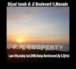 Dijual tanah bagus di Manado hadap pantai,