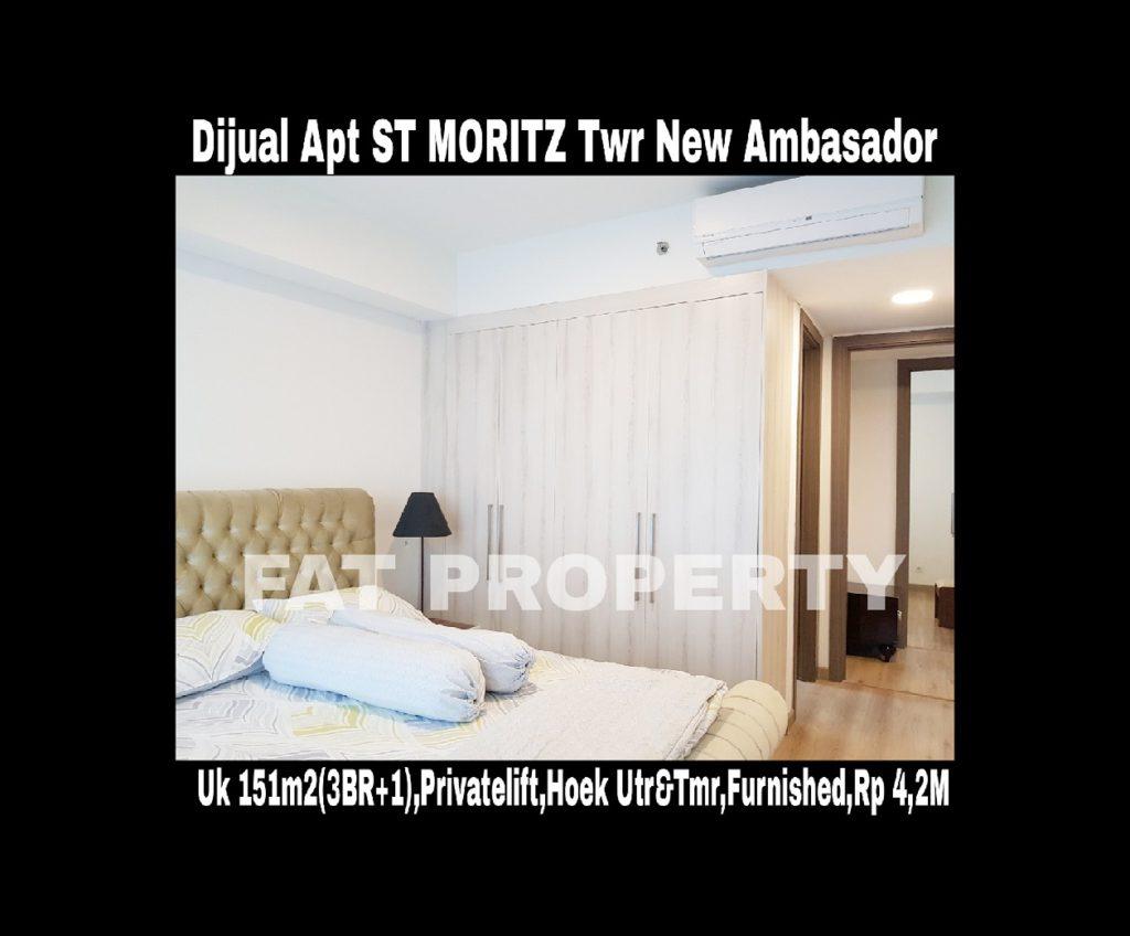 Dijual/disewa Apartment ST MORITZ Tower New Ambasador, tower paling high end dan terbaru serta paling strategis di tengah2 mal.