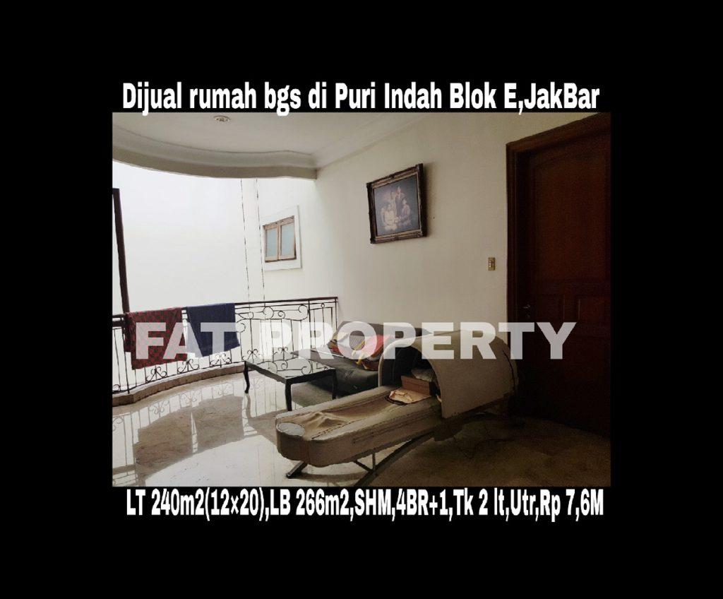 Dijual cepat rumah bagus di komplek perumahan elite di Puri Indah blok E,Jakarta Barat.