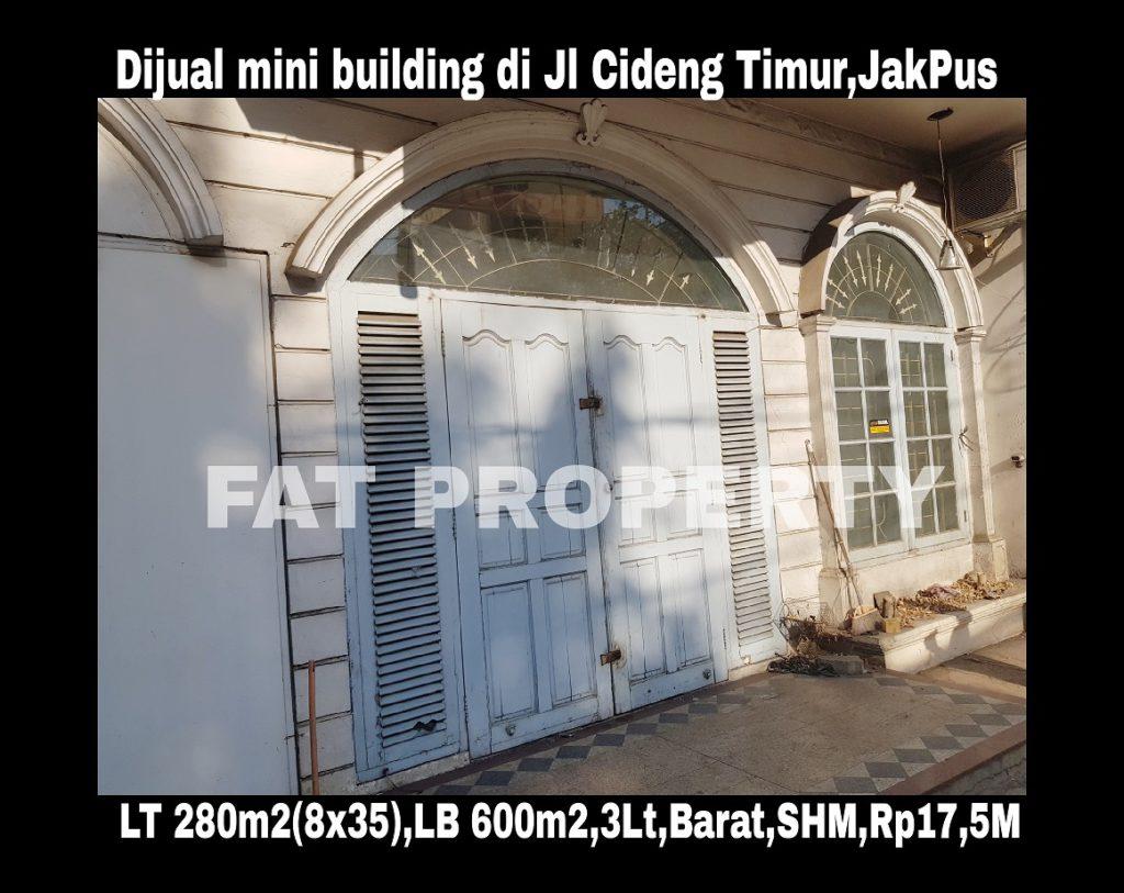 Dijual mini building di Jl Cideng Timur 38,Jakarta Pusat.