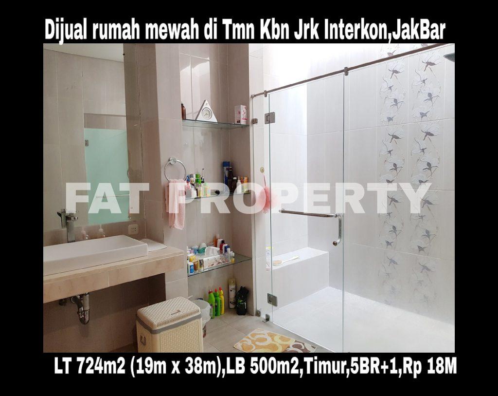 Dijual rumah mewah asri di komplek elit para pengusaha di Taman Kebon Jeruk Intercon Blok D,Jakarta Barat.