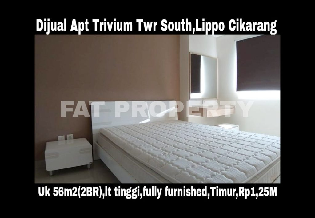 Dijual Apt Trivium Tower South,Lippo Cikarang.