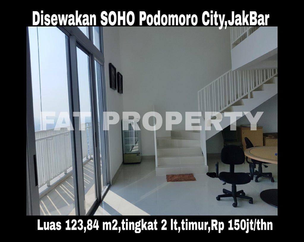 Disewakan SOHO Podomoro City