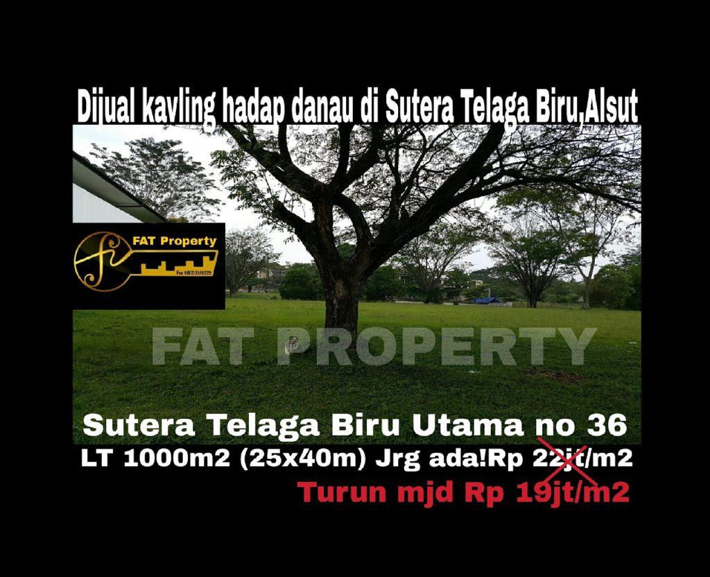 Dijual kavling perumahan elite di Sutera Telaga Biru Utama no 36,Alam Sutera.