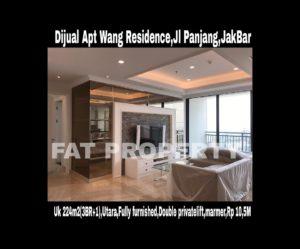 Dijual Apartemen Wang Residence, Jl. Panjang Kav. 18, Jakarta Barat.