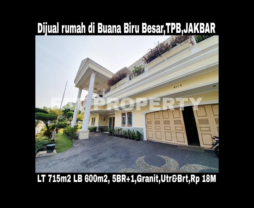 Dijual rumah mewah di Jl.Buana Biru Besar,Taman Permata Buana,samping Puri Indah,Jakarta Barat.