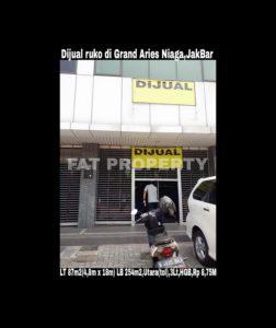 Dijual ruko bagus di Grand Aries Niaga,Taman Aries, Jakarta Barat.