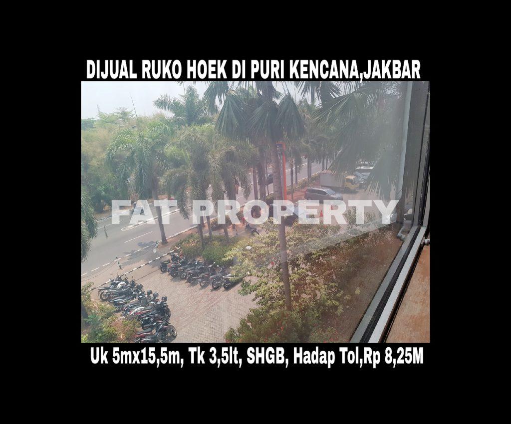 Dijual ruko bagus hoek di Puri Kencana, Jakarta Barat.