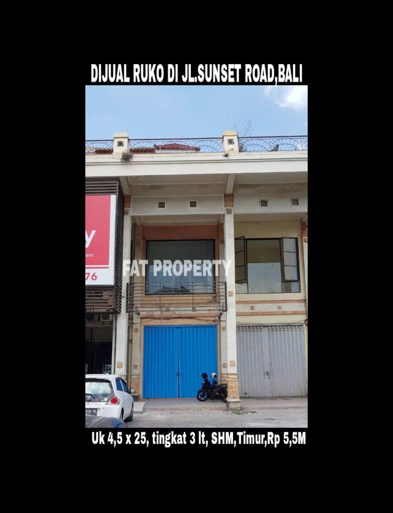 Dijual Ruko di Jl Sunset Road no. 8E,Bali.