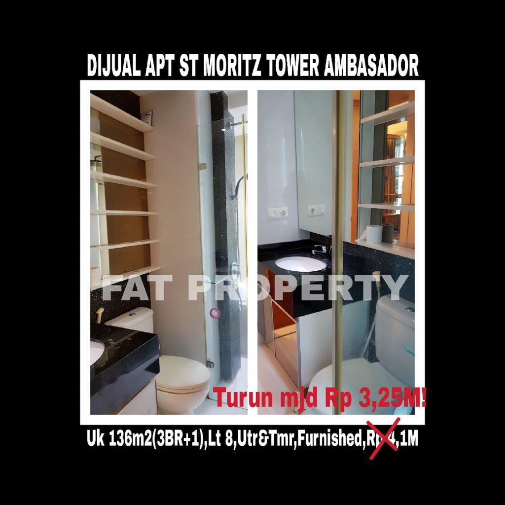 Dijual Apartment ST MORITZ Tower Ambasador,paling strategis di tengah2 Lippomal Puri.
