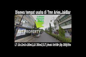 Disewakan rumah utk tempat usaha di Taman Aries menghadap Ruko Aries Niaga.