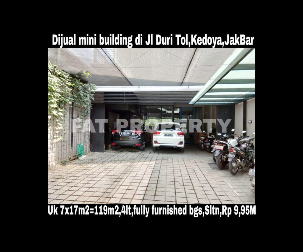 Dijual mini building bagus di Jl Duri Tol,Kedoya,Jakarta Barat.