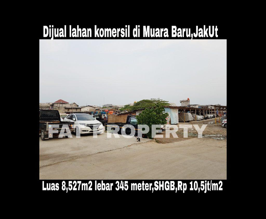 Dijual lahan di Muara Baru,Jakarta Utara.