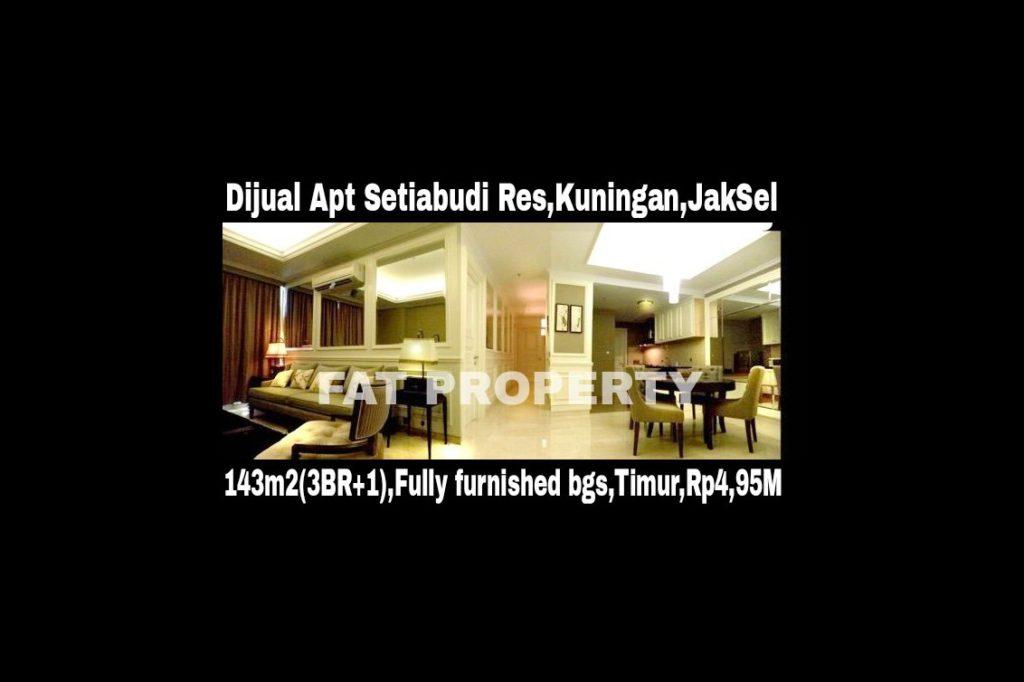DIJUAL APARTEMEN SETIABUDI RESIDENCES,Kuningan,Jakarta Selatan.