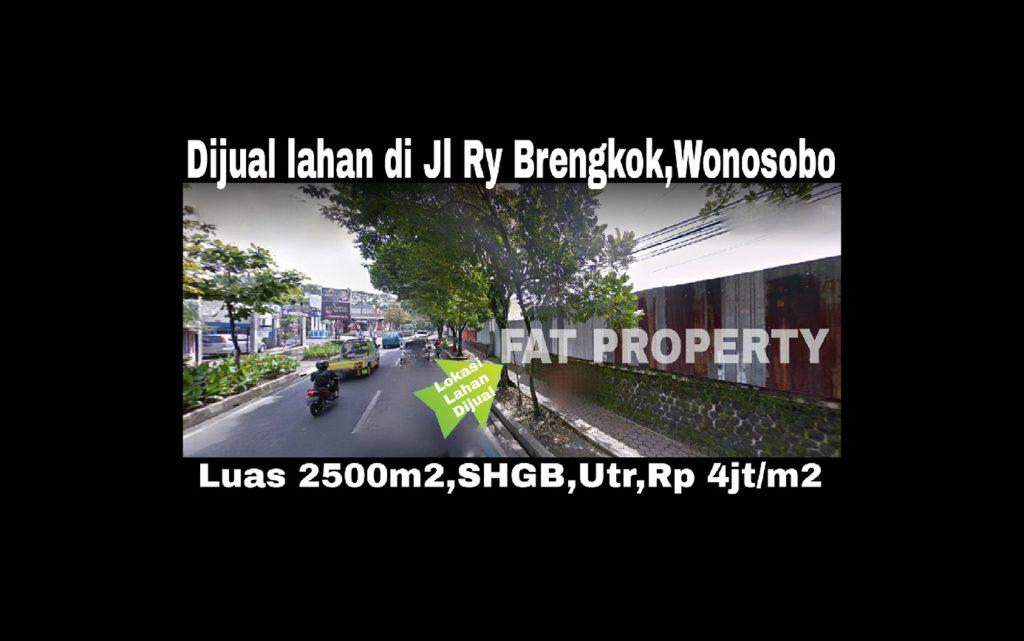 Dijual lahan komersil di pusat kota Wonosobo,Jawa Tengah.