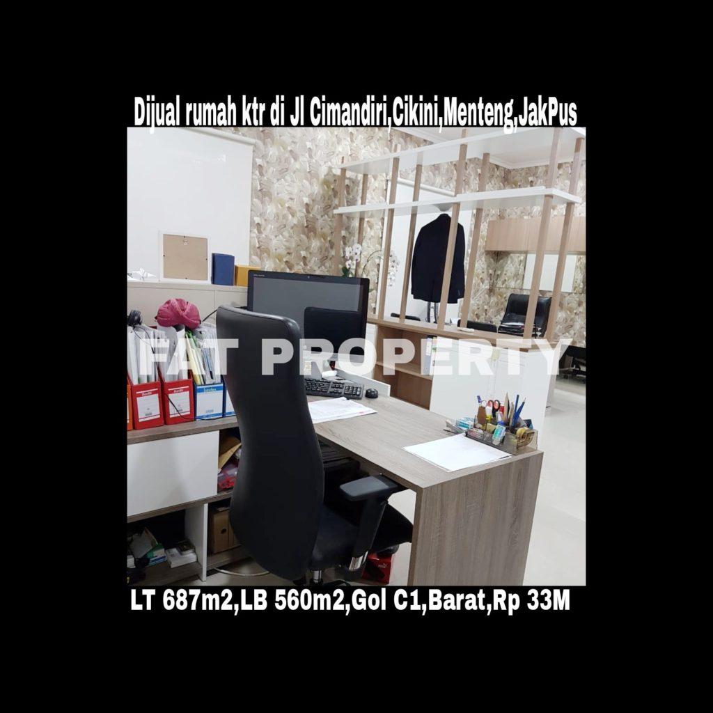 Dijual rumah di daerah elite di jantungnya ibukota Indonesia di Menteng Jl Cimandiri,Cikini,Menteng.