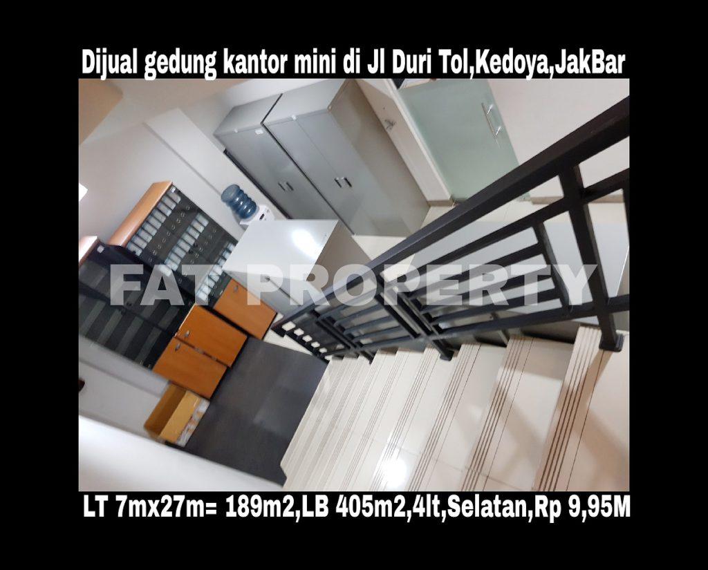 Dijual gedung kantor kecil bagus di Jl Duri Tol,Kedoya,Jakarta Barat