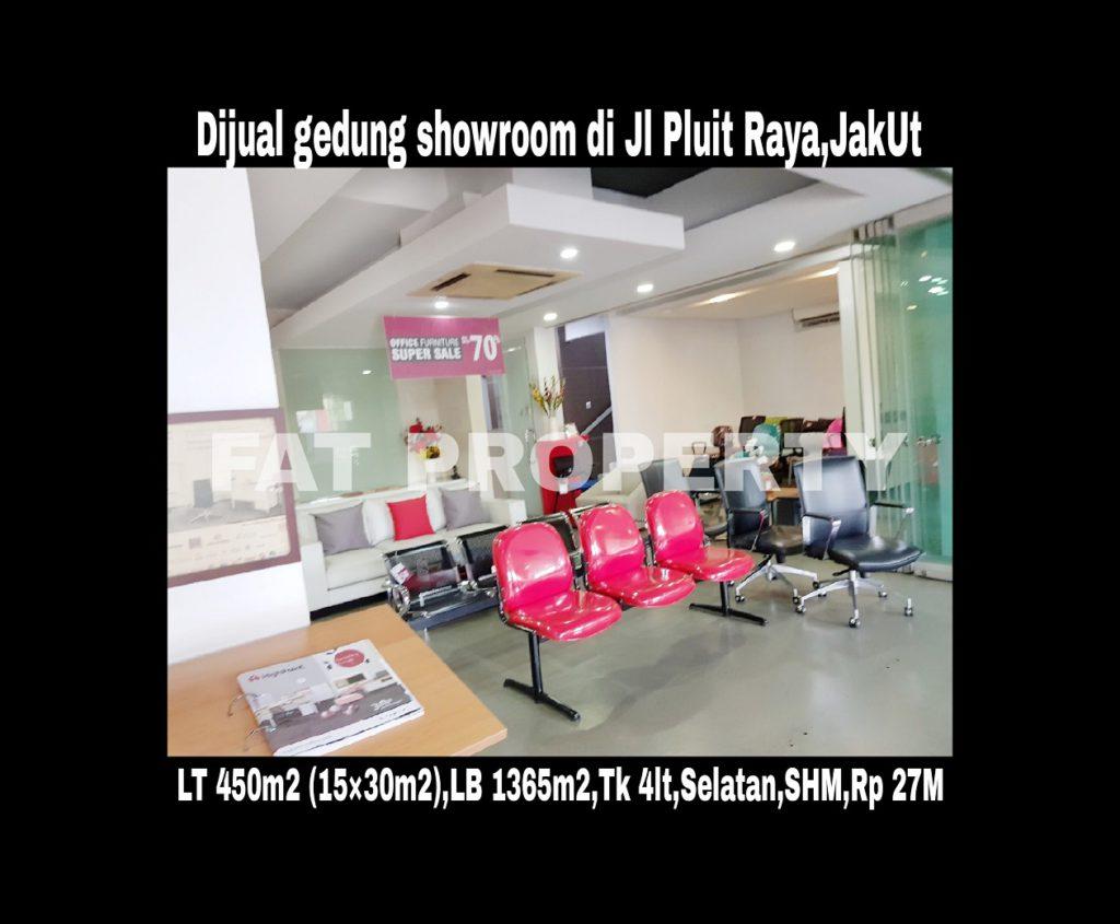 Dijual gedung mini 4 lantai masih dipakai sbg showroom di Jl Raya Pluit,Jakarta Utara.