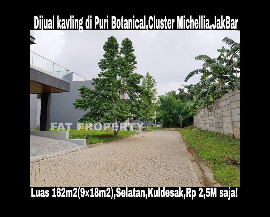 Dijual kavling bagus boulevard di Puri Botanical,Cluster Michellia,Jakarta Barat