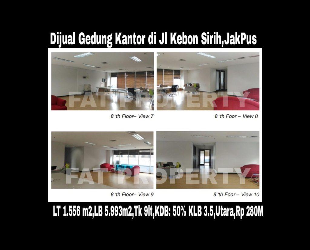 DIJUAL GEDUNG 9 LANTAI DI JL KEBON SIRIH,JAKARTA PUSAT.