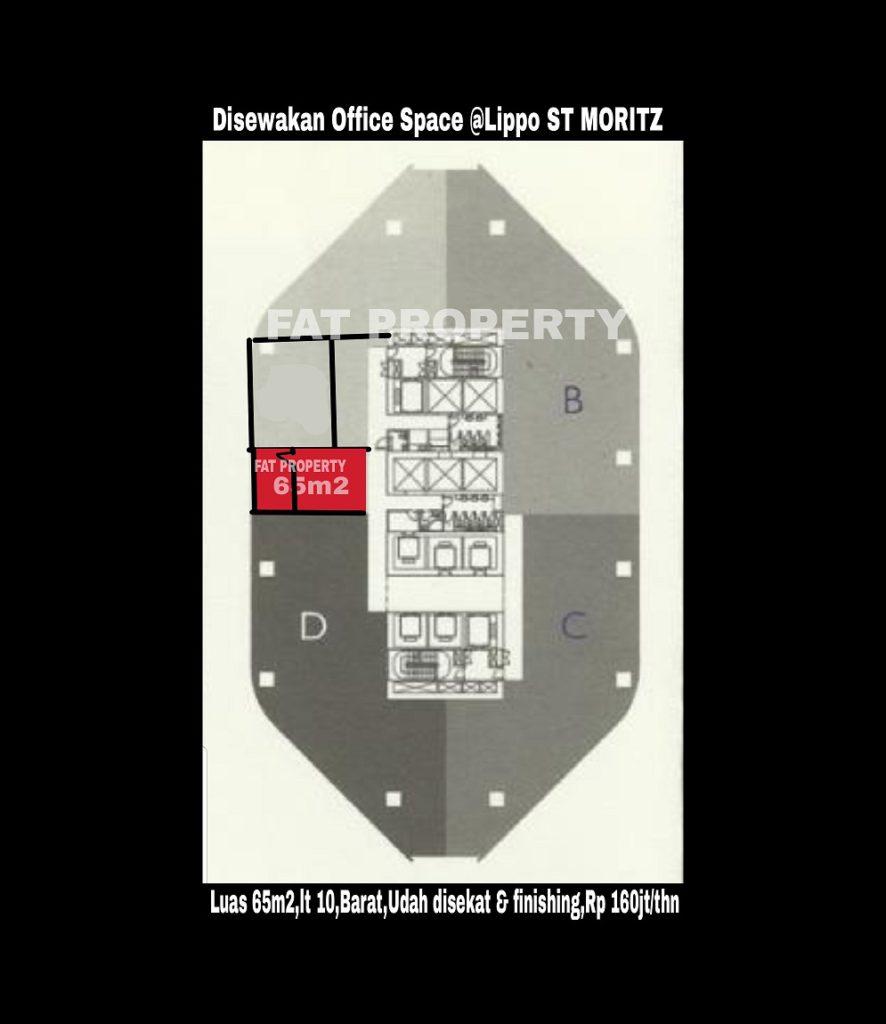 Disewakan office space di kawasan bergengsi dan terkomplit di Jakarta Barat