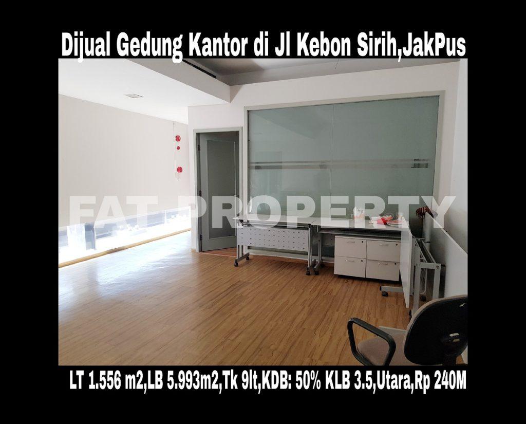 DIJUAL GEDUNG 9 LANTAI DI JL KEBON SIRIH,JAKARTA PUSAT