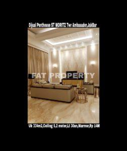 Dijual Penthouse ST MORITZ Tower Ambasador.