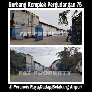 Dijual gedung pabrik Ex Garment di kawasan Pergudangan 75 ,Perancis Raya,Dadap,Tangerang