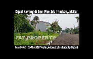 Dijual kavling premium di perumahan elite Taman Kebon Jeruk Interkon,Jakarta Barat.
