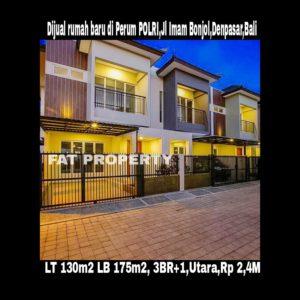 Dijual rumah baru di PERUM POLRI,Jl Imam Bonjol,Denpasar,Bali.