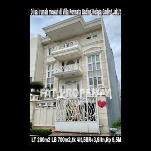 Dijual cepat Rumah tinggal di komp.Villa Permata Gading,Kelapa Gading,Jakarta Utara.