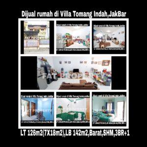 Dijual rumah di Villa Tomang Indah,Kepa Duri,Jakarta Barat.
