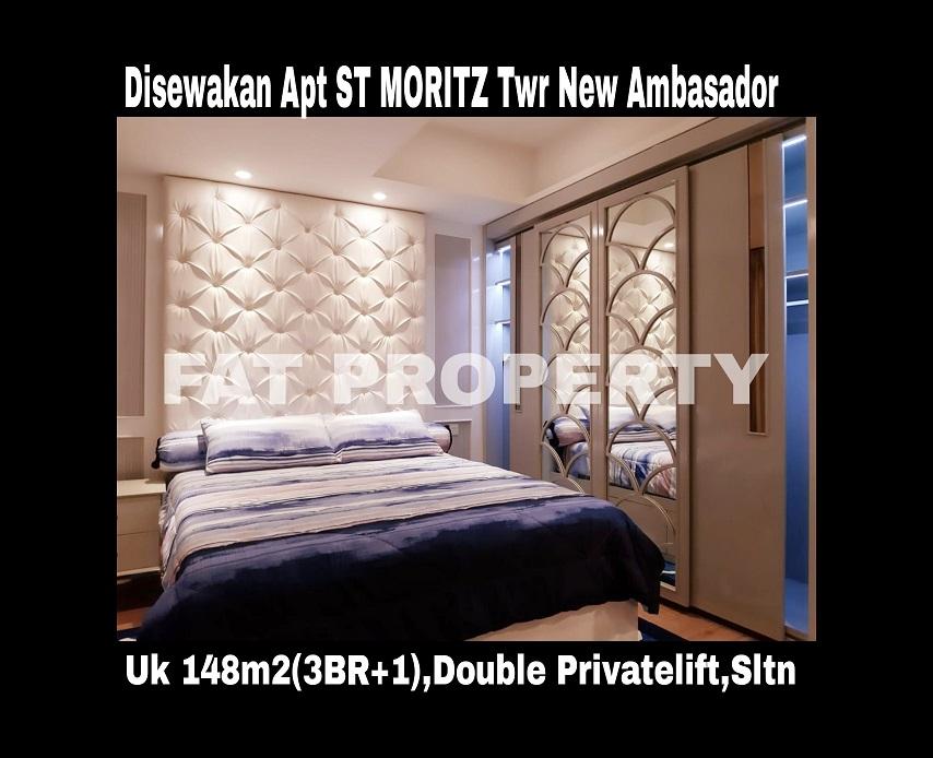 Disewakan Apartment ST MORITZ Tower New Ambasador, tower paling high end dan terbaru serta paling strategis di tengah2 mal