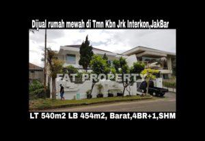Dijual rumah mewah di perumahan elite yg sudah terkenal dari dulu sblm Puri Indah: Taman Kebon Jeruk Interkon,Jakarta Barat.