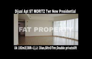 Dijual cepat butuh cash Apartment ST MORITZ Tower terbaru dan terbaik,New Presidential Tower.